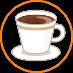 マグカップにコーヒー