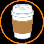 カップにコーヒー2