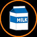 ミニ牛乳パック
